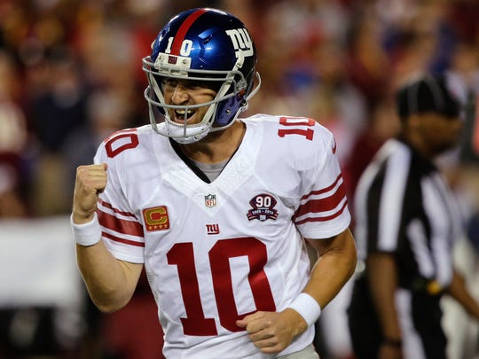 Giants quarterback Eli Manning is also heading into the final year of his deal.