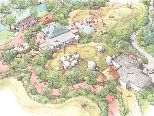 An artist's rendering of the Great Plains Zoo's forthcoming