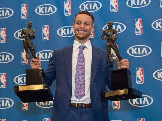 Stephen Curry with the 2014-2015 & 2015-2016 NBA Most