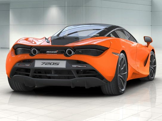 The rear of the McLaren 720S is home to a 4-liter V-8