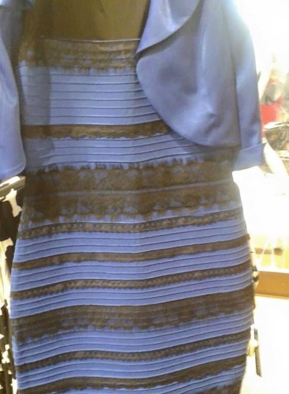 Optical illusions color perception dress