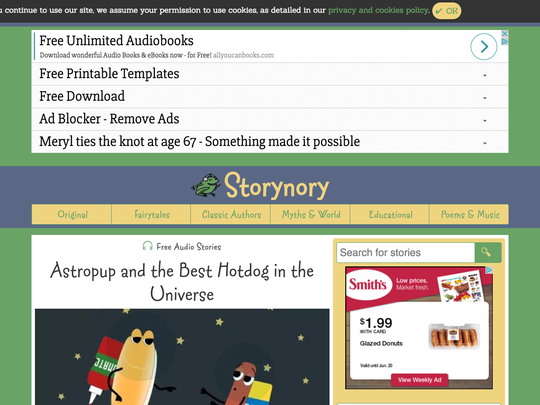 """""""Storynory"""" adds a new story each week, from classic tales to new ones, filled with adventure and imagination."""