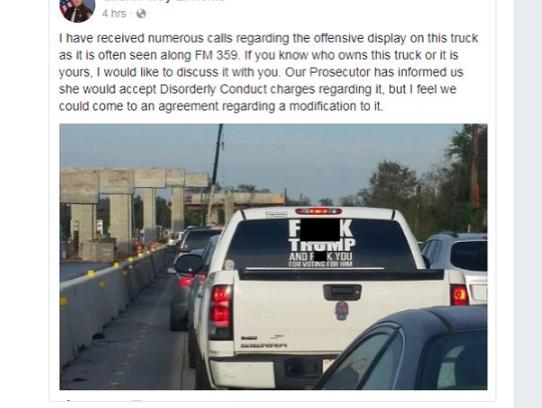 Anti-Trump Car Sticker
