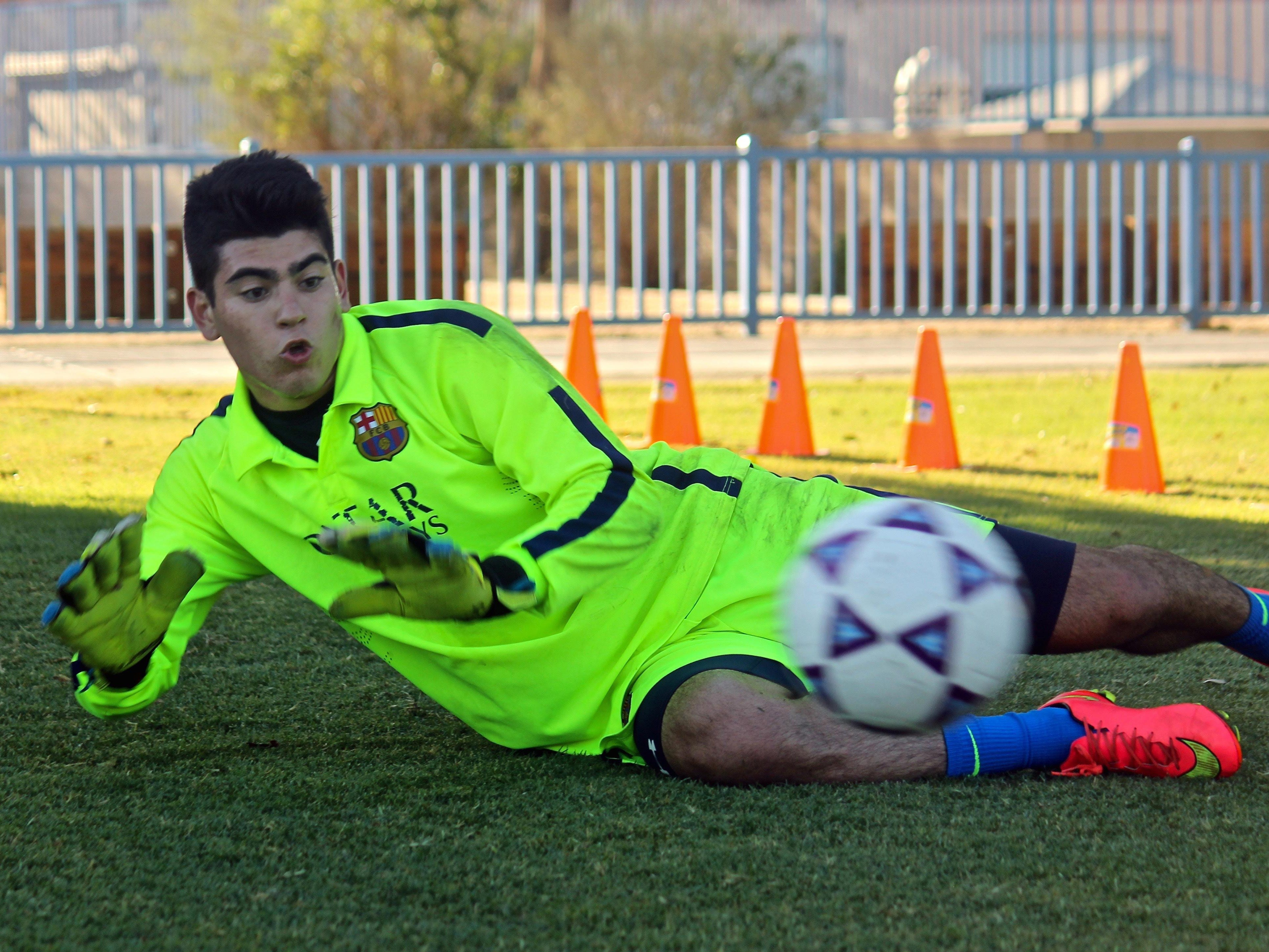 Daniel Rivera practices at the Hovley Soccer Park in Palm Desert, on Tuesday. Rivera has a soccer tryout on Saturday that will determine if he is qualified to join Chivas Guadalajara's Development Program.