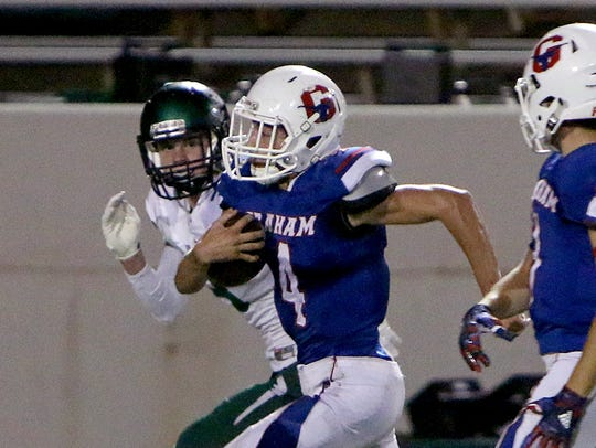Graham's Wes Martin returned this kickoff last year against Iowa Park for a touchdown, one of his three scores on returns in his high school career.