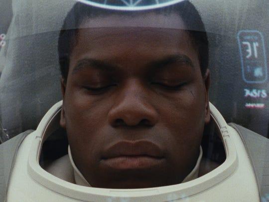 "John Boyega as Finn in ""Star Wars: The Last Jedi."""