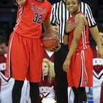 Ole Miss Women's Basketball vs Arkansas on Wednesday, March 5th, 2014 during the opening round of the SEC Tournament in The Arena at Gwinnett Center in Duluth, GA.