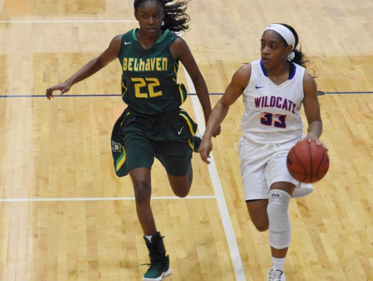 The Lady Wildcats of Louisiana College played Belhaven