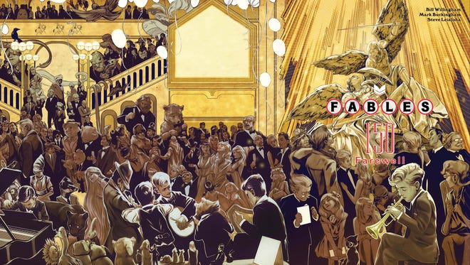 """A host of old favorites return for one last curtain call in the final issue of """"Fables."""""""
