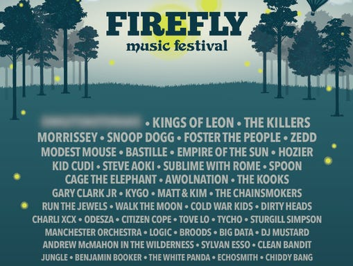 Firefly lineup announced; Paul McCartney not listed