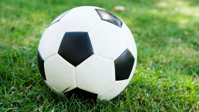 Soccer ball on grass - Generic Image
