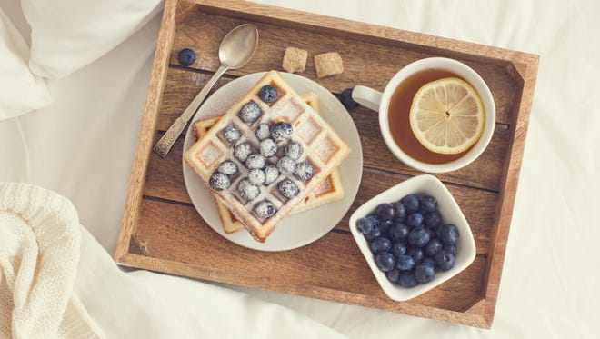 Breakfast in bed is a sure way to make Mom's day this Sunday.