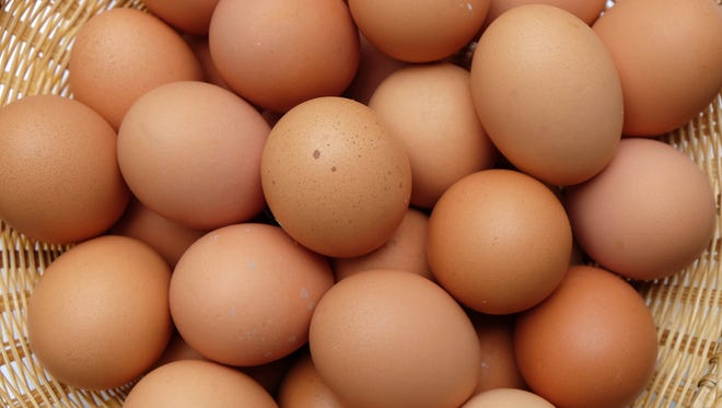 Stock image of chicken eggs