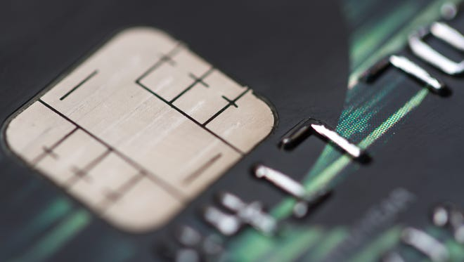 Credit card with a EMV chip.