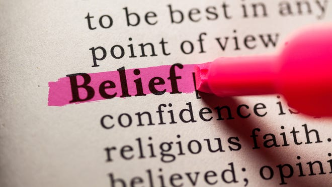 Fake Dictionary, Dictionary definition of the word belief.