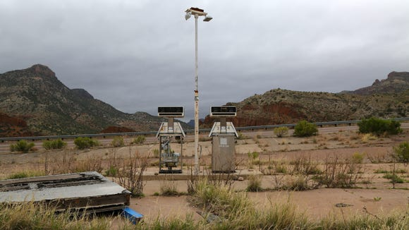 An abandoned gas station near Salt River Canyon.