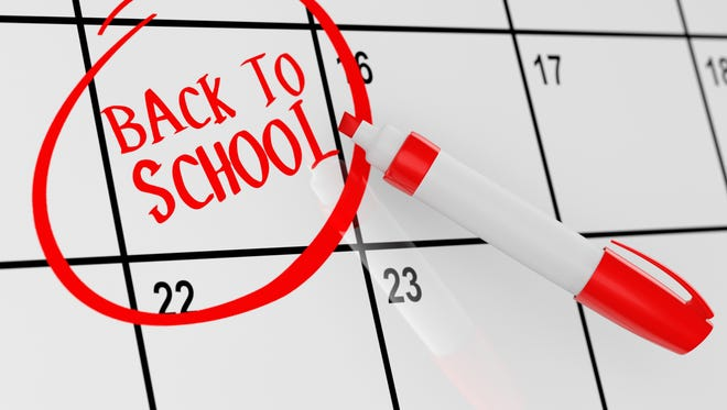 Back to school calendar.