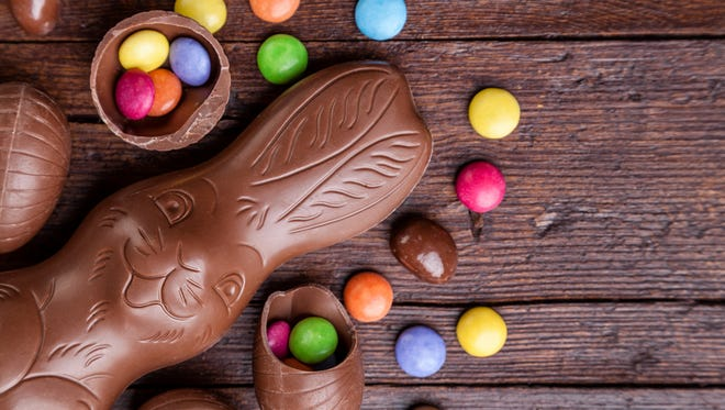 Children everywhere Sunday will take part in the annual springtime gorging that occurs around the hallowed Easter basket.