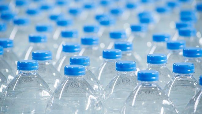 Water bottles.