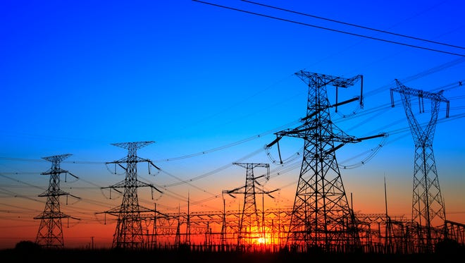 In this USA Today file photo, electrical towers stand in a Pennsylvania sunset.