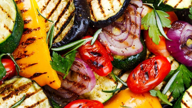 A photo of grilled vegetables.