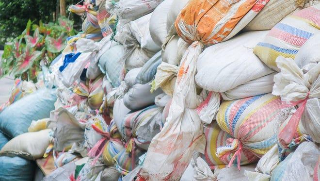 Sandbags? We don't need no stinkin' sandbags!