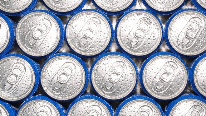 Aluminum cans.