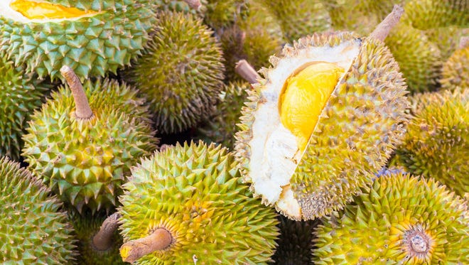 A friend was just trying to mail four Thai durian fruits. Her package caused quite the stink.