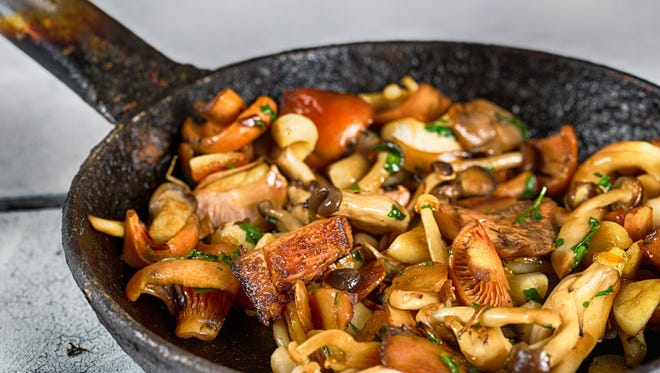 Sauteed mushrooms look almost as good as they taste.