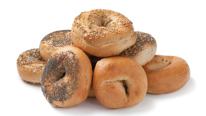 Fresh assorted bagels