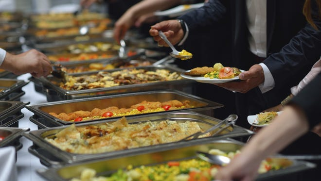 Buffets present a series of logistical food-safety challenges. Keeping foods from spoiling requires constant attention, but buffet food sits unattended for hours. People can cough or sneeze on the food, or touch it with their unwashed hands. Flies easily land -- and poop -- on food exposed to the air. And then there's the temperature problem: Hot foods need to stay piping hot, and cold foods must remain refrigerator-cold to ward off bacteria growth. With so many elements working against your intestinal health, it's better to steer clear of buffets anywhere you're not 100% confident of food handling and safety techniques.