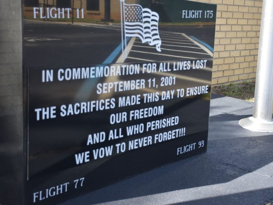 Eagle Scout Wyatt Moore installed a 9/11 memorial at