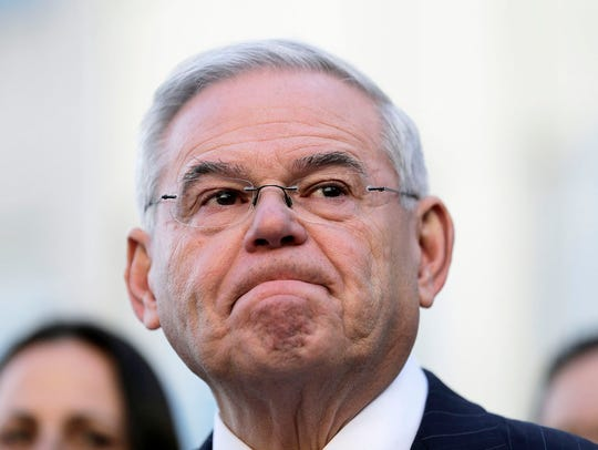 Democratic Sen. Bob Menendez becomes emotional as he