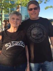 Jim Severo and his mom Jane Severo from Appleton took