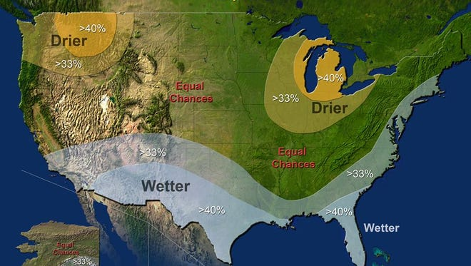 The National Oceanic and Atmospheric Administration is predicting a dry winter for most of Ohio.