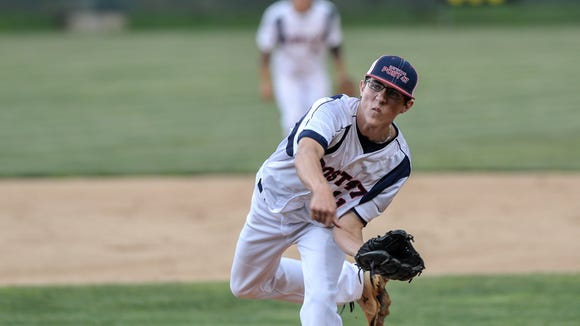 Haywood County Post 47 pitcher Jake Sutton.
