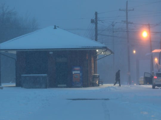 The Little Falls train station at 7am. No trains were running.