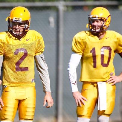 Arizona State quarterbacks Mike Bercovici and Taylor