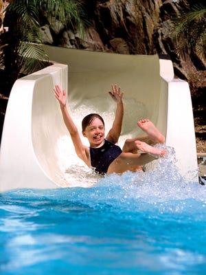 The water slide at Pointe Hilton Squaw Peak Resort in Phoenix.