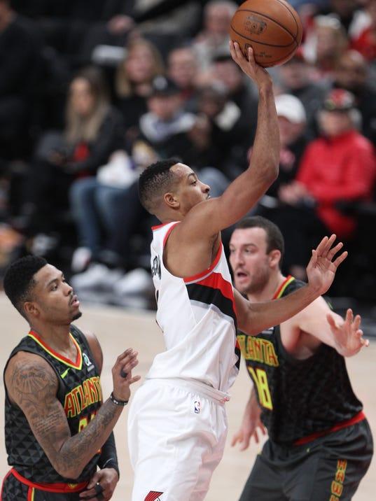 NBA: Atlanta Hawks at Portland Trail Blazers