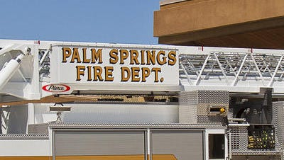 Palm Springs firefighters responded to  house fire that damaged an abandoned building on Sunview Avenue early Sunday. A transient may have been involved, officials said.