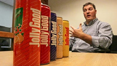 Krier Foods president and owner John Rassel talks about the decision to bring back Jolly Good soda beverages Friday July 1, 2016 at the company's plant in Random Lake.