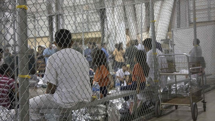 Detention center in McAllen, Texas on June 17, 2018.