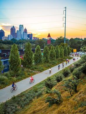 Atlanta's BeltLine, a former rail line circling the