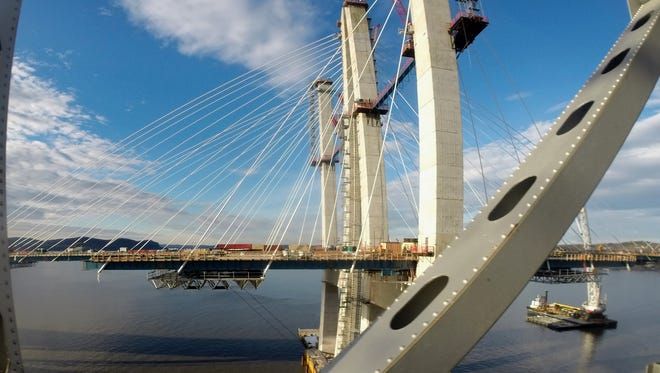 The last cable for the north span of the new Tappan Zee Bridge has been installed March 20, 2017.