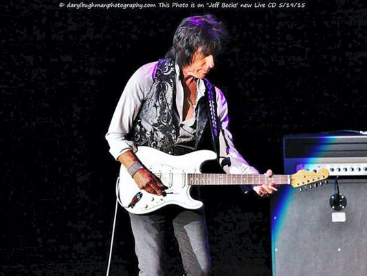 Pictured is the photo of Jeff Beck by Shippensburg photographer Daryl Bughman that made it to the cover of Beck's new CD released May 19, 2015.