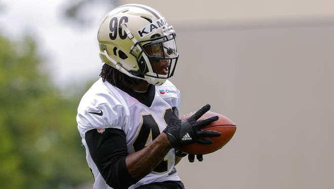 Rookie Saints running back Alvin Kamara (41) is one of many promising young prospects to breathe new life into New Orleans' hopes for the future.
