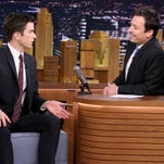 Comedian John Mulaney during an interview with host Jimmy Fallon on October 1, 2014.