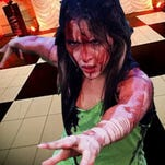 """Alie B. Gorrie as Carrie in Street Theatre Company's production of """"Carrie: The Musical."""""""