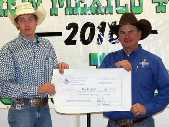 Tee Pickett 2016 4-H Rodeo Scholarship recipient, pictured
